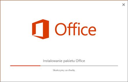 Instalator pakietu Office wygląda, jakby instalowany był pakiet Office, ale instalowany jest tylko program Skype dla firm.