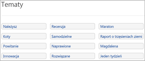 Lista tematów