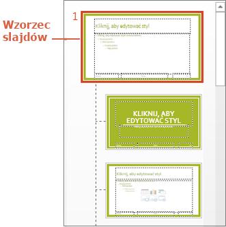 Wzorzec slajdów z układami