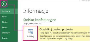 Obraz publikowania projektu