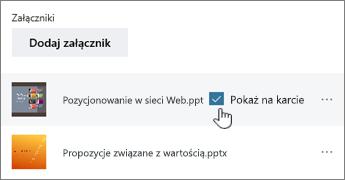 ClickShow wizytówkę, aby wyświetlić podgląd