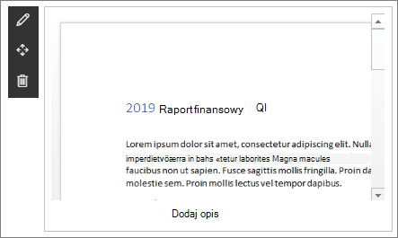 Składnik Web Part Podgląd plików w przykładowej witrynie programu SharePoint w usłudze SharePoint Online