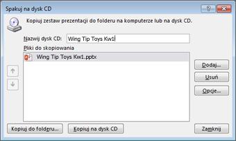 Pakowanie prezentacji na dysk CD