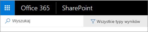 Pasek wyszukiwania w usłudze SharePoint Online