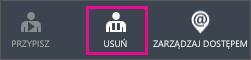 Przycisk Usuń w usłudze Azure AD