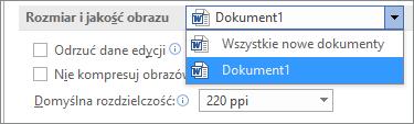 Konfigurowanie metody kompresowania w pakiecie Office pozwalającej na zrównoważenie jakości i rozmiaru pliku