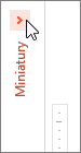 Zwinięte menu miniatury