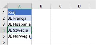 Komórka rekordu połączonego wybrana w tabeli