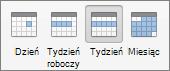Pasek narzędzi widoków kalendarza