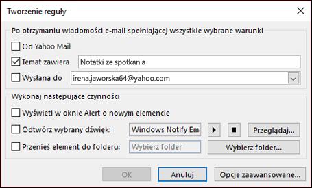 2c631fe177114a Zarządzanie wiadomościami e-mail za pomocą reguł - Outlook