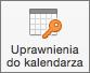 Przycisk Uprawnienia do kalendarza w programie Outlook 2016 dla komputerów Mac