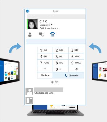 Reunião online usando o Lync