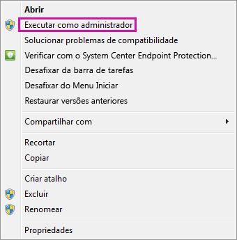 Executar como administrador no Windows 7
