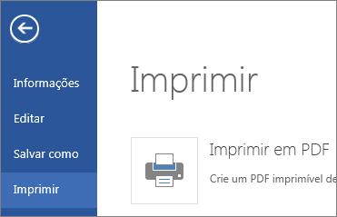 Comando Imprimir no Word Web App