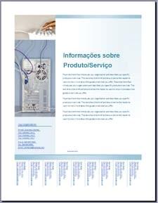 Modelo de panfleto (design azul suave) no Office Online