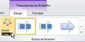 Altere a cor do elemento gráfico SmartArt.
