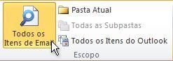 Todos os Itens de Email na faixa de opções