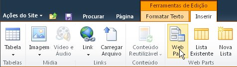Comando de Web Part