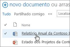 Clique num documento para o abrir