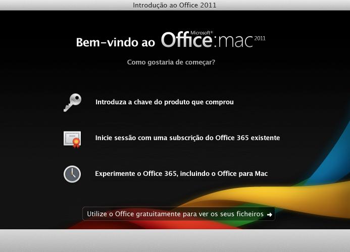 Iniciar sessão numa subscrição do Office 365 existente