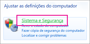 Painel de Controlo do Windows 7