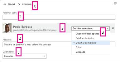 Partilhar Calendário no Office Web App