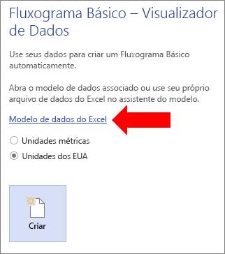 Como escolher o link do Modelo de Dados do Excel