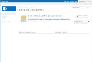 modelo de site da central de documentos
