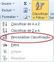 Classificação personalizada