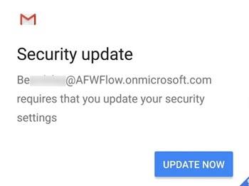 Atualizar a configuração de segurança