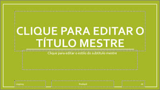 Layout do slide de título base no PowerPoint
