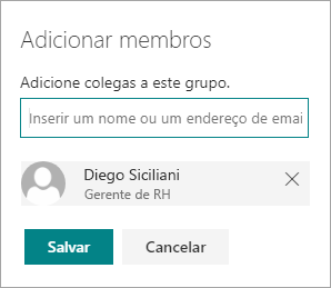 Adicionar um membro a um grupo