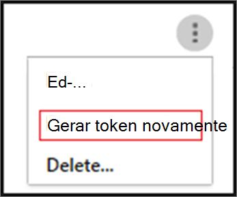 Gerar um token clicando nas reticências para seu agente SIEM