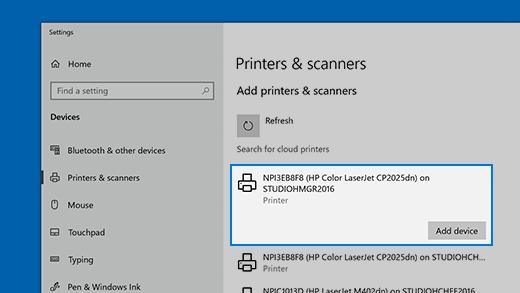 Adicionar uma impressora