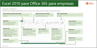 Miniatura da guia para alternar entre o Microsoft Excel 2010 e o Microsoft Office 365
