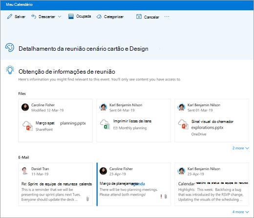 Uma captura de tela de ideias de reunião