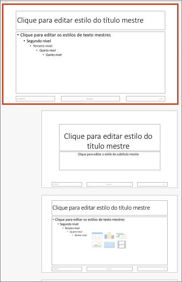 Efeitos de animação personalizados de SmartArt: lista vertical em caixas