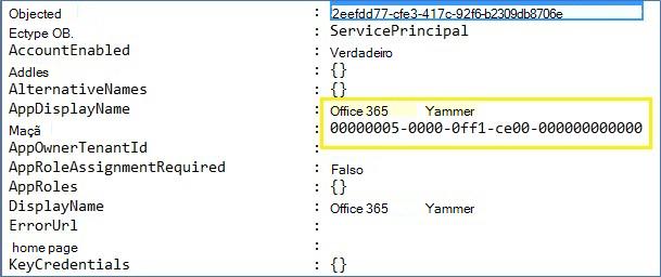 Exemplo de saída para um arquivo de texto