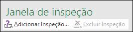 Clique em Adicionar Inspeção para adicionar uma inspeção à sua planilha