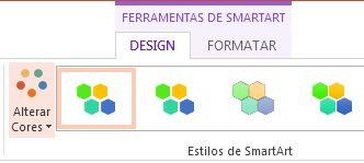 botão alterar cores no grupo de estilos de smartart