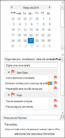 Organizar a barra de tarefas pendentes