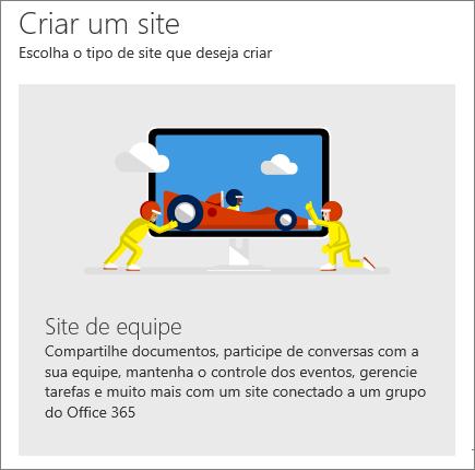 SharePoint Office 365 – Criar um site