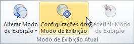comando configurações de exibição na faixa de opções
