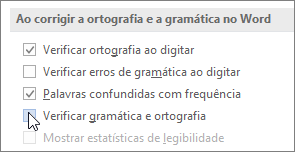 Caixas de seleção Gramática