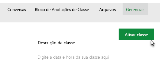 Comando Activate Class