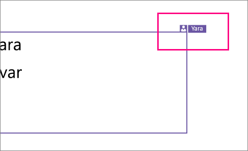 Exibe um ícone que mostra uma pessoa trabalhando em uma seção de um slide no PowerPoint 2016 para Windows