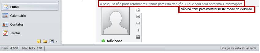 Mensagem de recurso do Microsoft Social Connector