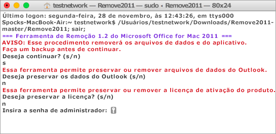 Use o comando Ctrl+clique para abrir e executar a ferramenta Remove2011.