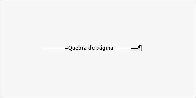 Mostra um exemplo de uma quebra de página.