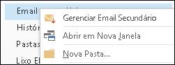 Gerenciar Email secundário